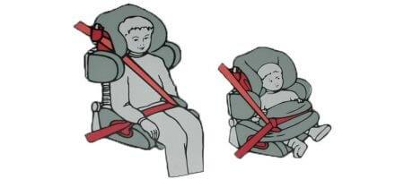 Внутренние ремни автокресла, столик безопасности или штатные автомобильные ремни?>