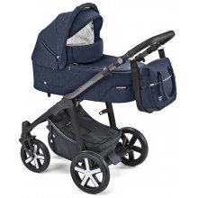 Коляска 2в1 Baby Design Husky WP 2019 03 Navy