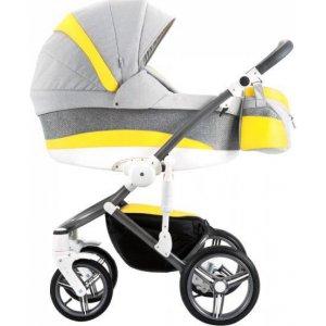 Коляска 2в1 Bebetto Murano NEW М01 Серый с желтым