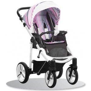 Прогулочная коляска Bebetto Nico (SLS03) Серый-Розовый