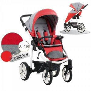 Прогулочная коляска Bebetto Nico (SL219) Красный-Серый