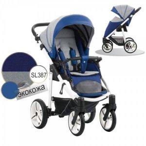 Прогулочная коляска Bebetto Nico (SL387) Синий-Серый