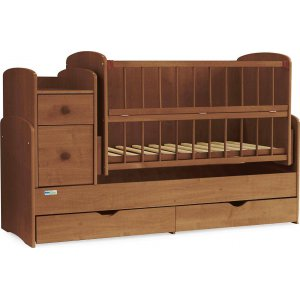 Кроватка трансформер Baby Sleep Angela (DTP-S-B) Nussbaum Dunkel
