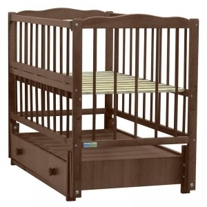 Кроватка Baby Sleep Aurora (AKP-S-B) Nussbaum Dunkel (Темный орех)