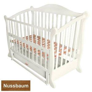 Кроватка Baby Sleep Grazia Lux (BKP-S-B) Nussbaum (Орех)
