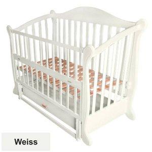 Кроватка Baby Sleep Grazia Lux (BKP-S-B) Weiss (Белая)