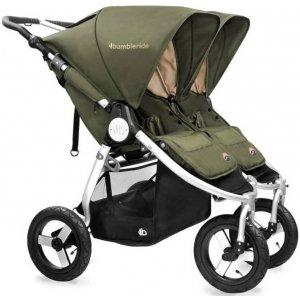 Прогулочная коляска для двойни Bumbleride Indie Twin Camp Green