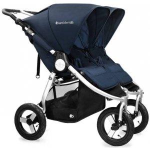 Прогулочная коляска для двойни Bumbleride Indie Twin Maritime Blue