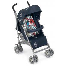 Прогулочная коляска Cam Flip синяя с рисунком