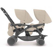 Прогулочная коляска для двойни Cam Twin Pulsar бежевая