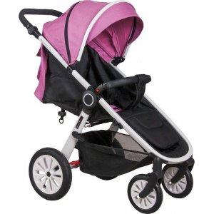 Прогулочная коляска Coletto Joggy 02 Pink на белой раме