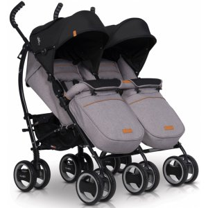 Коляска для двойни Easy Go Comfort Duo 2019 grey fox
