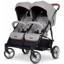 Прогулочная коляска для двойни EasyGo Domino grey fox