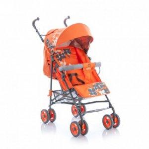 Коляска трость Geoby D208R-R4TO Оранжевый с светочками