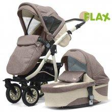 Коляска Kinder Rich 2в1 Fox Flax (Broun) коричневый
