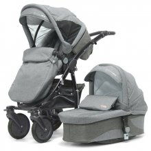 Коляска Kinder Rich 2в1 Fox Flax (Grey) серый