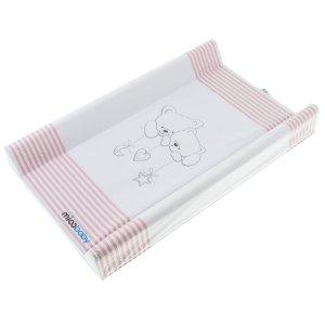 Пеленальный матрас Mioobaby BG-210 Cuddle Bears pink stripes