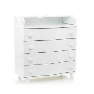 Пеленальный комод Mioobaby Caprice DeLuxe White