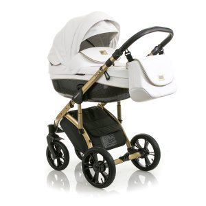 Коляска 2в1 Mioobaby Zoom Royal Edition White/Gold
