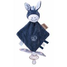 Мягкая игрушка квадратная Nattou ослик Алекс