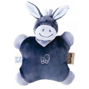 Мягкая игрушка-подушка Nattou ослик Алекс