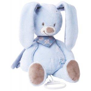 Мягкая игрушка с музыкой Nattou кролик Бибу, 28см