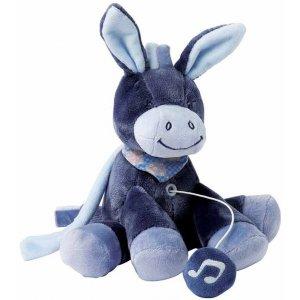 Мягкая игрушка с музыкой Nattou ослик Алекс 21см