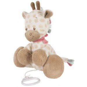 Мягкая игрушка с музыкой Nattou жираф Шарлота, 28см