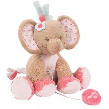 Мягкая игрушка с музыкой Nattou слоник Рози, 21см