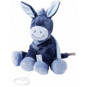 Мягкая игрушка с музыкой Nattou ослик Алекс, 28см