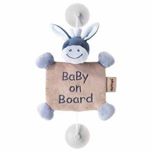 """Игрушка Nattou """"Ребенок на борту"""", на присосках, ослик Алекс"""