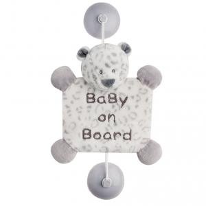 "Игрушка Nattou ""Ребенок на борту"", на присосках, леопард Лея"