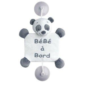 "Игрушка Nattou ""Ребенок на борту"", на присосках, панда Лулу"
