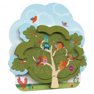 Настенная игрушка Oribel Veritiplay Дом мистера Белки на дереве