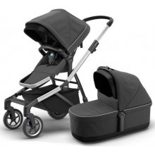 Коляска 2в1 Thule Sleek + Bassinet Charcoal Grey