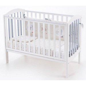 Детская кроватка Верес Соня ЛД10 Эконом, Бело-серый