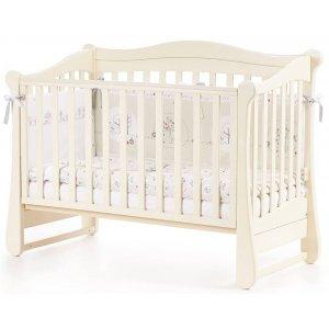 Детская кроватка Верес Соня ЛД18 без колес, Слоновая кость