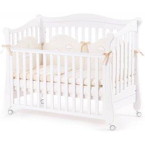 Детская кроватка Верес Соня ЛД18 без колес, Белый