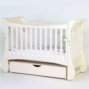 Детская кроватка Верес Соня ЛД20 маятник с ящиком, Слоновая Кость