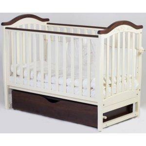 Детская кроватка Верес Соня ЛД3, Слоновая кость/орех