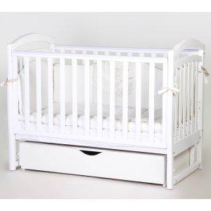 Детская кроватка Верес Соня ЛД6 маятник с ящиком, Белый