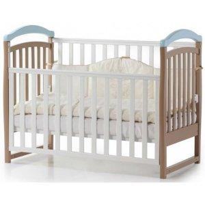 Детская кроватка Верес Соня ЛД6 без ящика, Капучино-голубой
