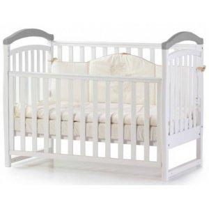 Детская кроватка Верес Соня ЛД6 без ящика, Бело-серый