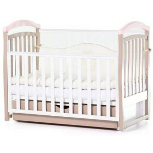Детская кроватка Верес Соня ЛД6, Капучино-розовый